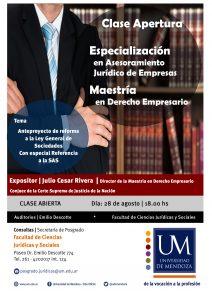 Juridicas Clase Apertura Rivera